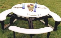 Open Round Picnic Table