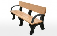 Landmark 6 Foot Backed Bench With Arms