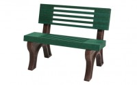 Elite 4 Foot Backed Park Bench | Maintenance Free & Rot Proof Benches