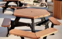 Plaza Hexagon Picnic Table