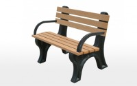 Econo-Mizer 4 Foot Backed Bench With Arms