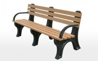 Econo-Mizer 6 Foot Backed Bench With Arms