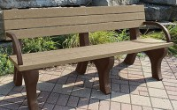 Deluxe 6 Foot Backed Bench With Arms