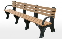 Econo-Mizer 8 Foot Backed Bench With Arms