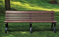 Willow 6 Foot Backed Bench