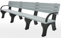 Deluxe 8 Foot Backed Bench With Arms