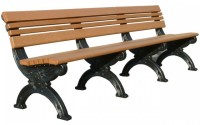 Cambridge 8 Foot Backed Bench