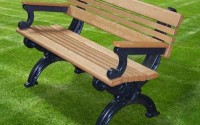 Cambridge 4 Foot Backed Bench With Arms