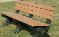Silhouette 6 Foot Backed Bench
