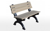 Silhouette 4 Foot Backed Bench