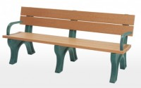 Traditional 6 Foot Backed Bench With Arms