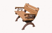 Monarque 4 Foot Backed Bench With Arms