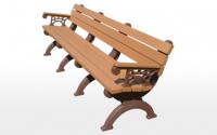 Monarque 8 Foot Backed Bench With Arms