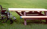 Standard ADA Compliant Single Access Picnic Table