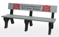 Landmark 6 Foot Message Bench