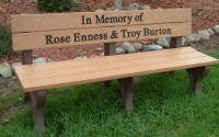 Traditional 6 Foot Message Bench