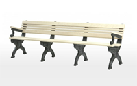 Cambridge 8 Foot Backed Bench With Arms