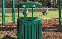 Streetscape Outdoor Canopy Trash Receptacle