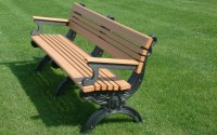 Cambridge 6 Foot Backed Bench With Arms