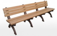 Monarque 8 Foot Backed Bench