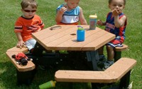 Open Hexagon Youth Picnic Table
