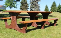 Poly Tuff 8 Foot | Eco-Friendly & Sustainable Picnic Table
