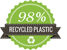 98% Recycled Plastic - Sustainabile Recycling Bins
