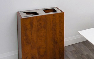 Recycling Bins for Small Spaces Double Stream Recycling Bins & Containers