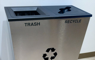 Recycling Bins for Boardrooms & Conference Rooms Double Stream Recycling Bins & Containers