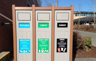 Triple Stream Recycling Containers