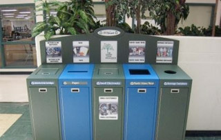 Office Waste & Recycling Bins Five Stream+ Recycling Bins & Containers