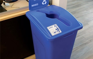 Office Waste & Recycling Bins Single Stream Recycling Bins & Containers