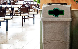 Plastic Recycle Bins & Trash Receptacles Single Stream Recycling Bins & Containers