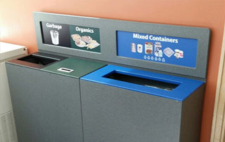 Recycling Bins for Small Spaces Triple Stream Recycling Bins & Containers