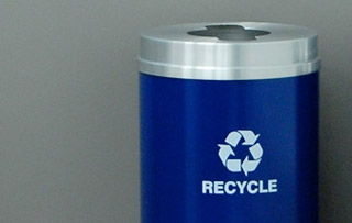 Steel Recycle Bins & Trash Cans Single Stream Recycling Bins & Containers