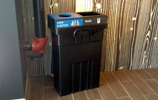Recycling Bins for Washrooms & Restrooms Double Stream Recycling Bins & Containers
