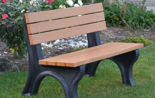 4 Foot - Backed Park Benches