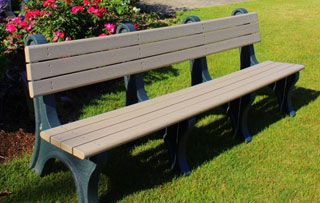 8 Foot - Backed Park Benches