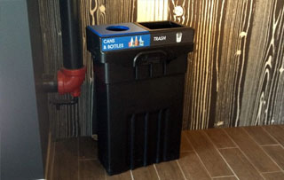 Recycling Bins & Containers for Atriums and Lobbies Double Stream Recycling Bins & Containers