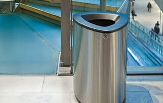 Recycling Bins & Containers for Atriums and Lobbies Single Stream Recycling Bins & Containers