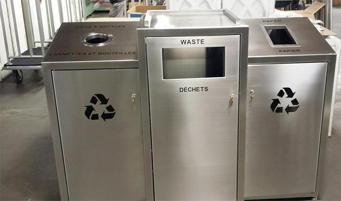 Aviation Triple Stream Recycle Container Waste Wise Products