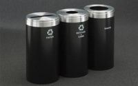 RecyclePro 23 Gallon Triple Stream | Modular Aluminum Receptacle