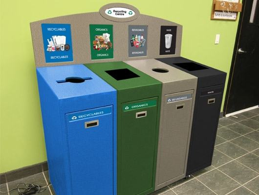 Front Service Recycling Station Quad Stream