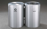 RecyclePro 41 Gallon Double Stream | Modular Aluminum Receptacle
