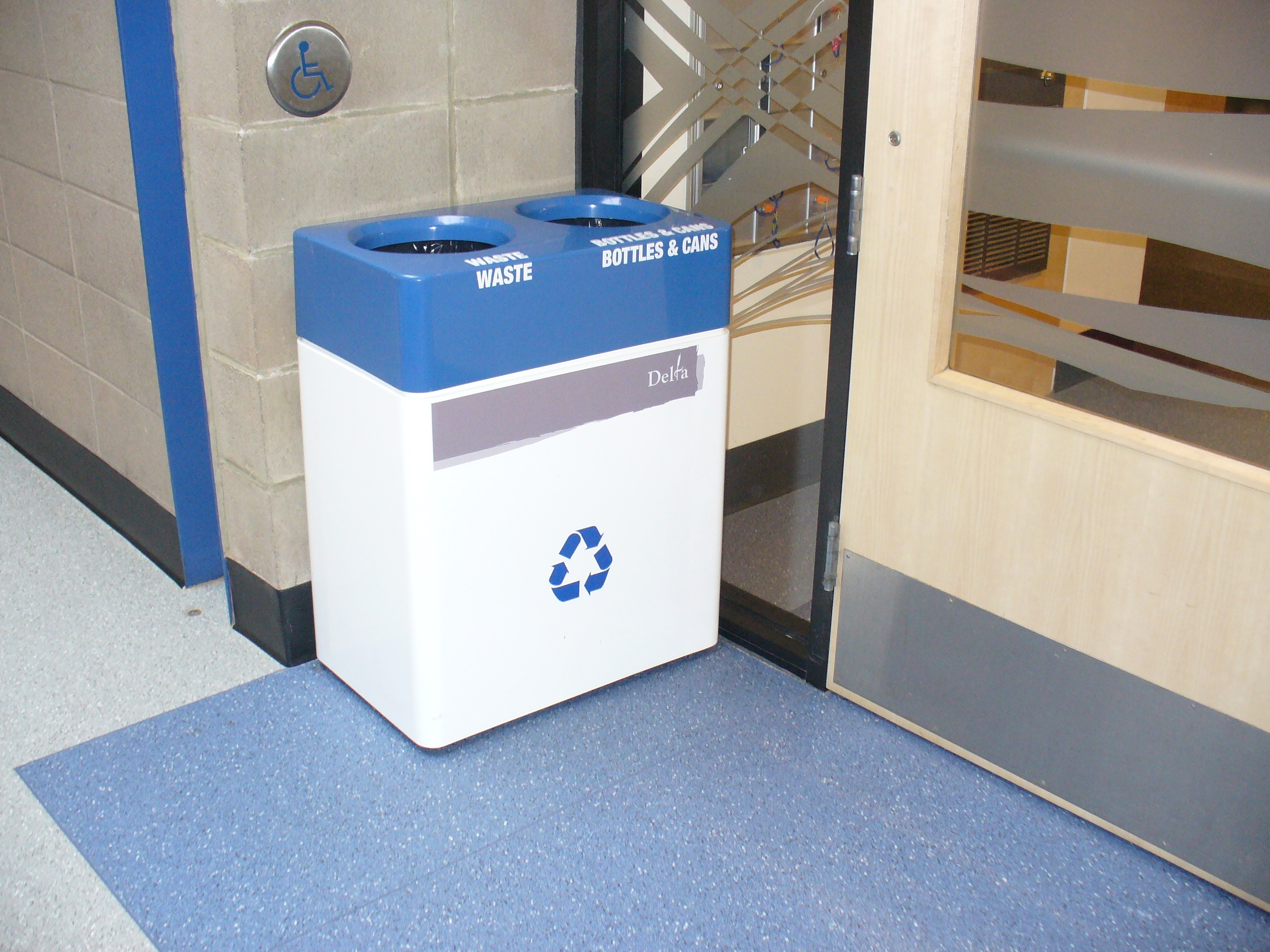 Fiberglass Small Double Stream Recycling Bin Waste Wise