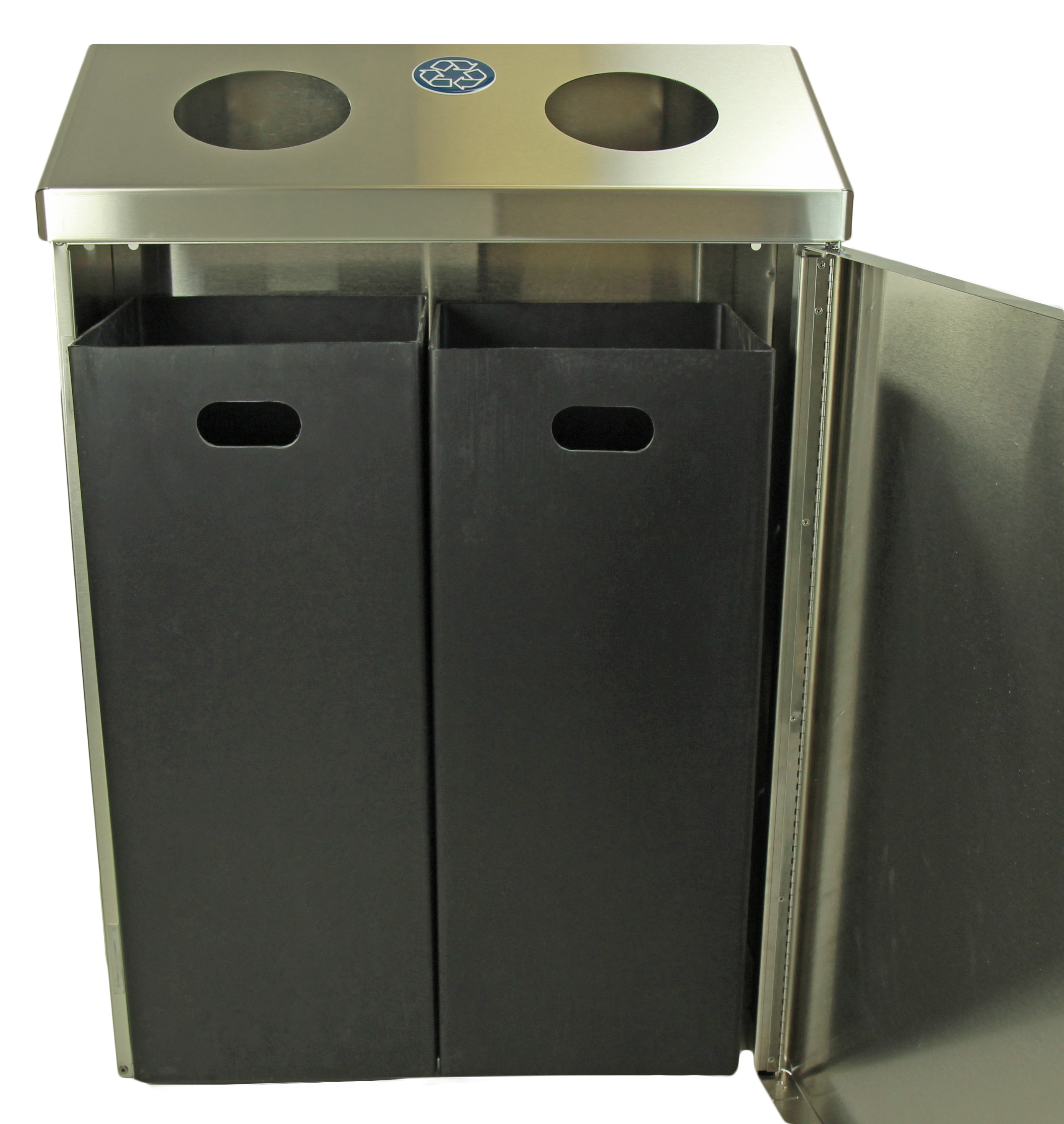 315 Stainless Steel Modular Recycling Station Waste Wise