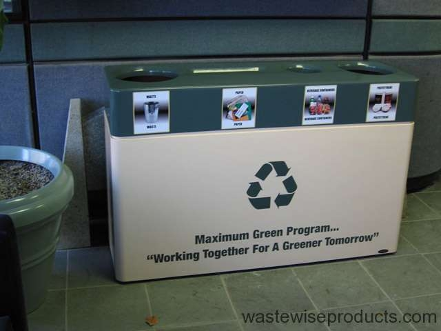 Fiberglass Quad Stream Recycling Bin Waste Wise Products