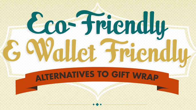"Recycling Gift Wrap;€"" Eco Friendly Alternatives & Sustainability Infographic"