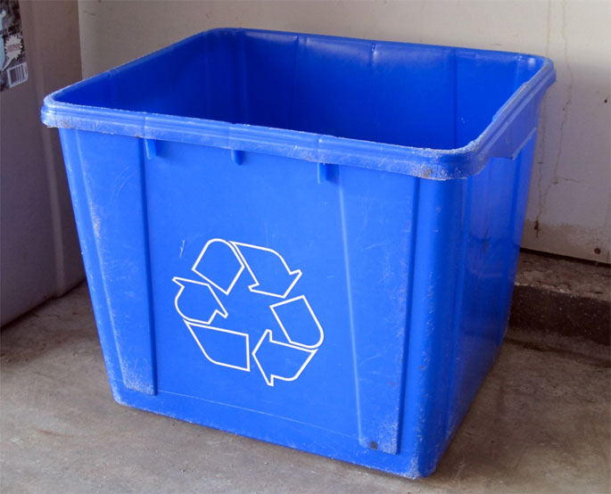 Are recycle bins always big, ugly and bright blue?