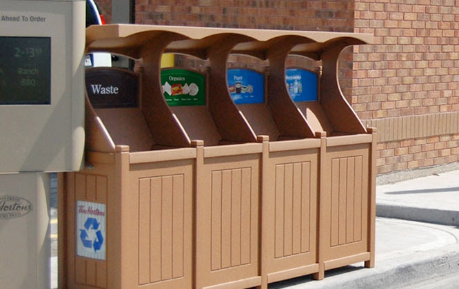 Excel Catch All Quad Stream Waste & Recycling Station